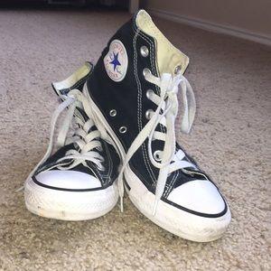 017bf78685f1a4 Black High Top Converse